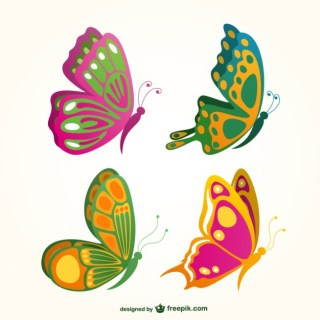 Butterflies Collection Free Vector