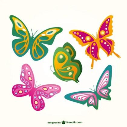 Butterflies Flying Set Free Vector