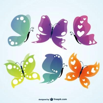 Butterflies Illustration Free Vector