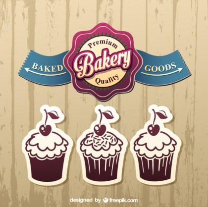 Cake Label Designs Free Vector