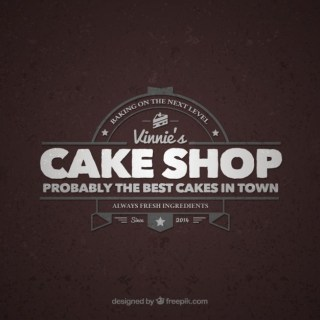 Cake Shop Retro Logo Free Vector