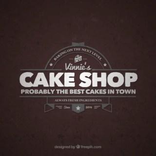 Cake Shop Retro Logo Free Vector