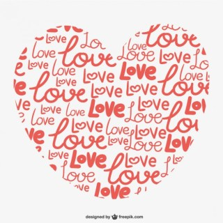 Calligrafic Love Heart Free Vector