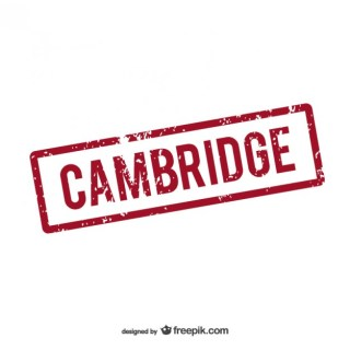 Cambridge Rubber Stamp Logo Free Vector