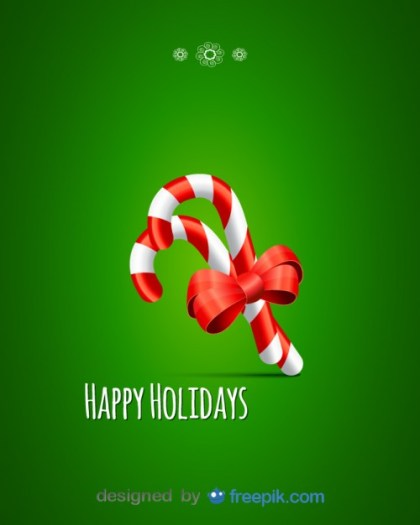 Candy Canes with a Bow Free Vector