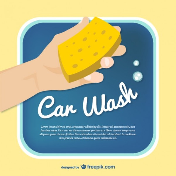 Car Wash Template Free Vector
