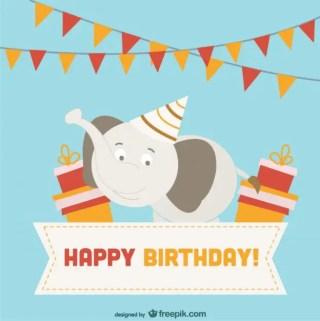 Card Birthday Design Free Vector