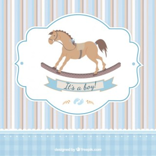 Card for Baby Shower Free Vector
