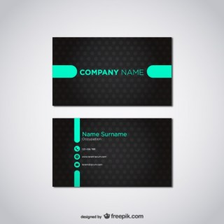Card Template Free Vector