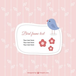 Card Template with Bird Free Vector