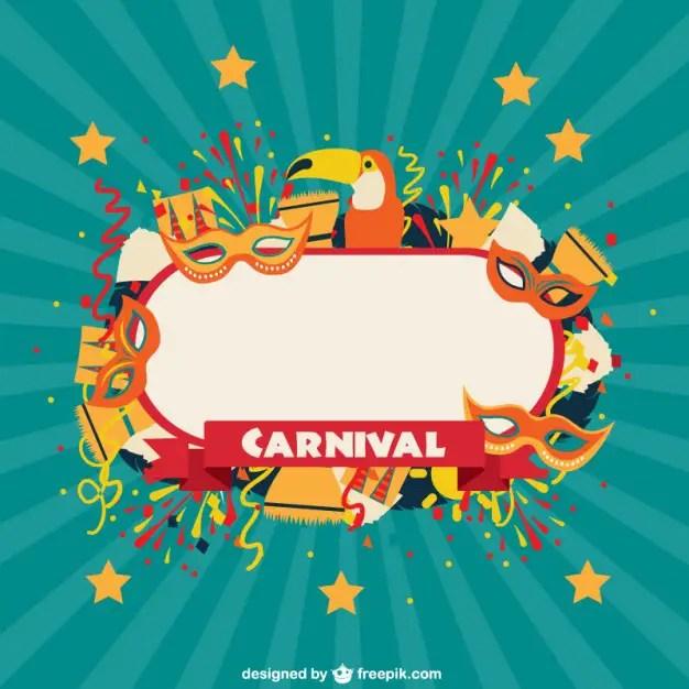 Carnival Celebration Label Free Vector