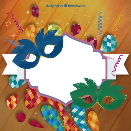 Carnival Label Free Vector