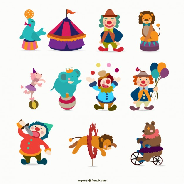 Cartoon Circus Free Vector