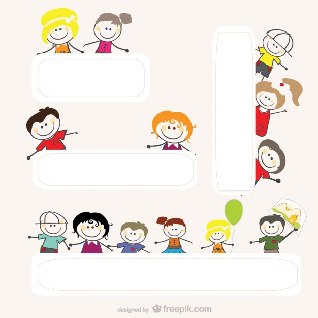 Cartoon Drawings By Children Free Vector
