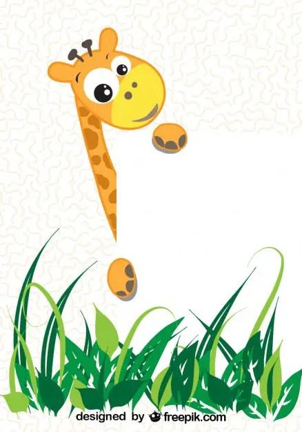 Cartoon Giraffe Free Vector