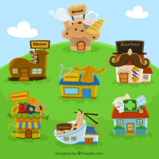 Cartoon House Free Vector