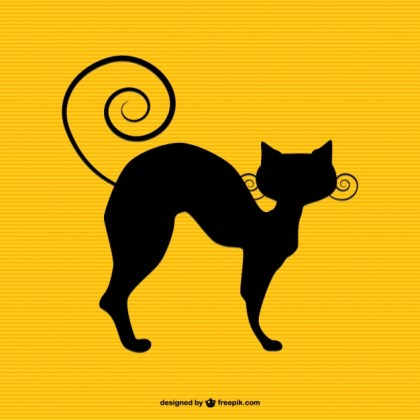 Cat Silhouette Art Free Vector