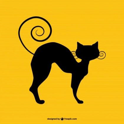 Cat Silhouette Art Free Vector