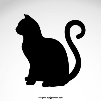 Cat Silhouette Free Vector