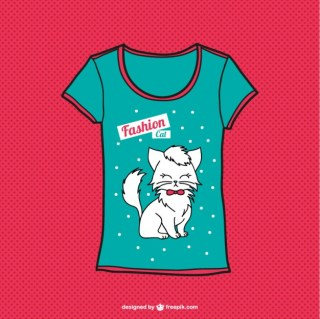 Cat T-Shirt Free Vector