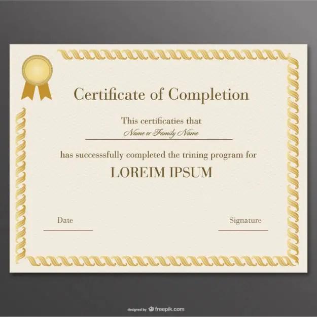 Certificate Design Free Vector