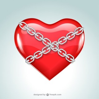 Chained Heart Free Vector