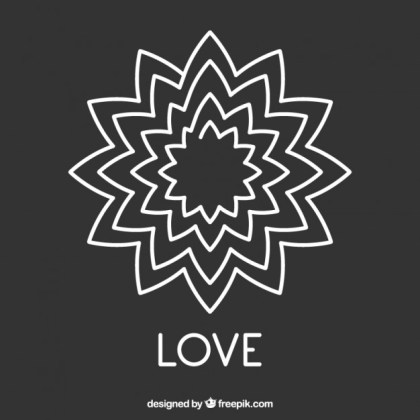 Chalkboard Love Design Free Vector