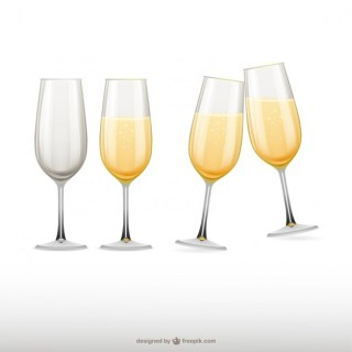 Champagne Glasses Illustrations Free Vector