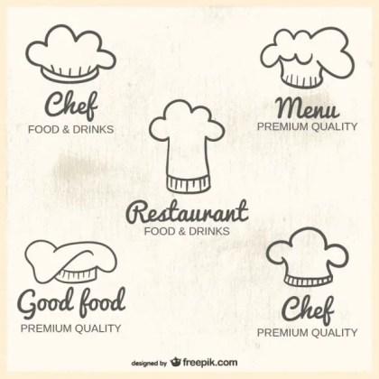 Chef Hats Logos Free Vector