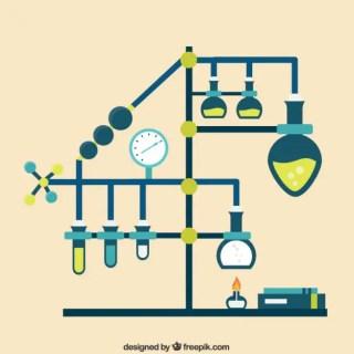 Chemistry Laboratory Infographic Free Vector