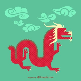 Chinese Dragon Free Vector