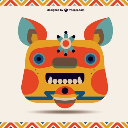 Chinese Monster Design Free Vector