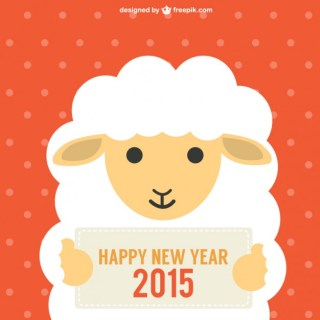 Chinese New Year with Sheep Free Vector