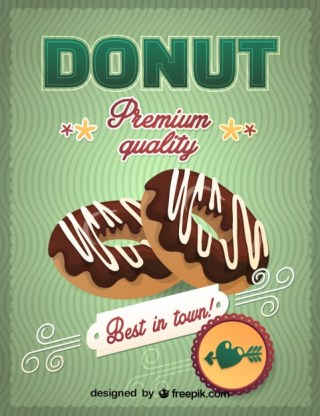 Chocolate Donuts Graphic Free Vector