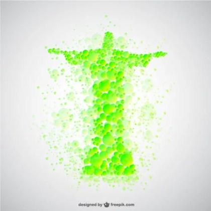 Christ The Redeemer Brazil Template Free Vector