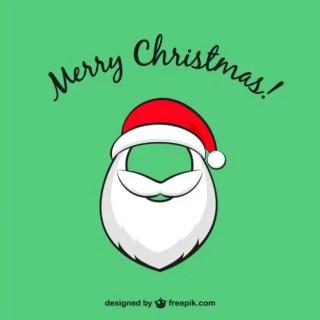 Christmas Card with Santa Claus Beard Free Vector