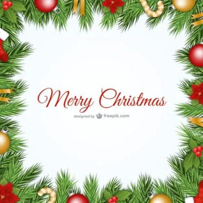 Christmas Frame Free Vector