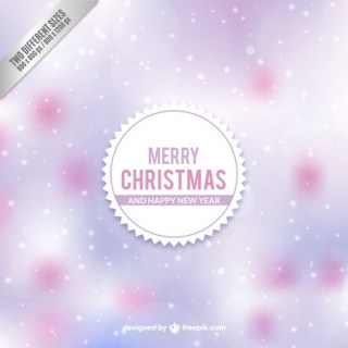 Christmas Label with Small Snowflakes Free Vector