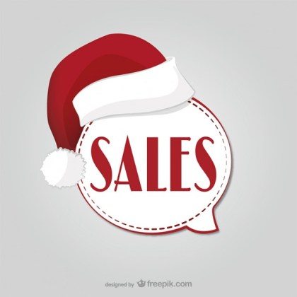 Christmas Sales Label Free Vector