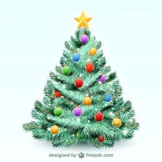 Christmas Tree Illustration Free Vector