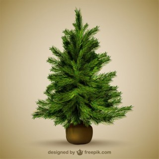 Christmas Tree Illustration Free Vector