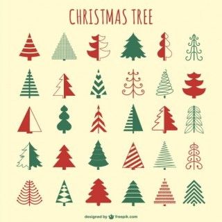 Christmas Tree Pack Free Vector
