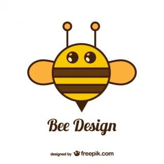 Circle Bee Design Free Vector