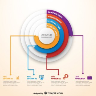 Circle Infographic Template Free Vector