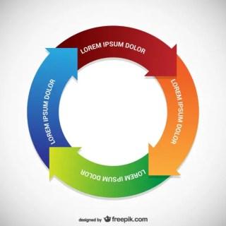 Circular Infographic Template Free Vector