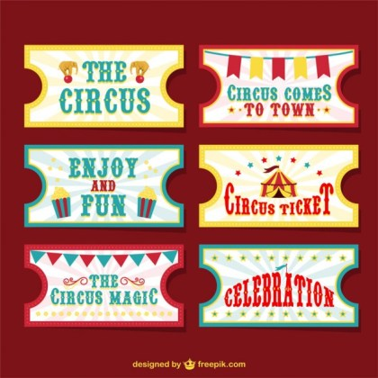 Circus Tickets Free Vector