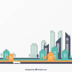 City Buildings Free Vector