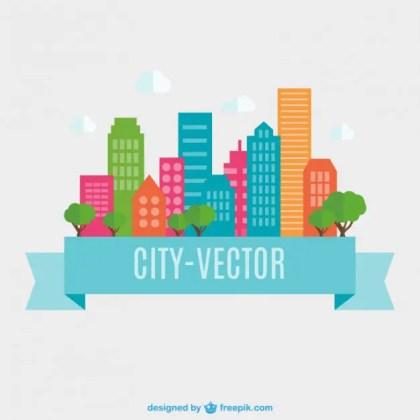 City Flat Design Free Vector