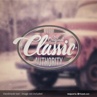 Classic Authority Badge Over Photo Background Free Vector