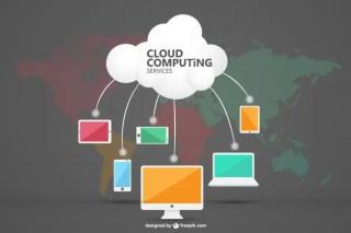 Cloud Computing Art Free Vector